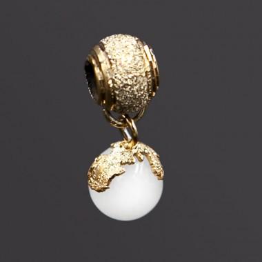 charm diamantato classic argento dorato