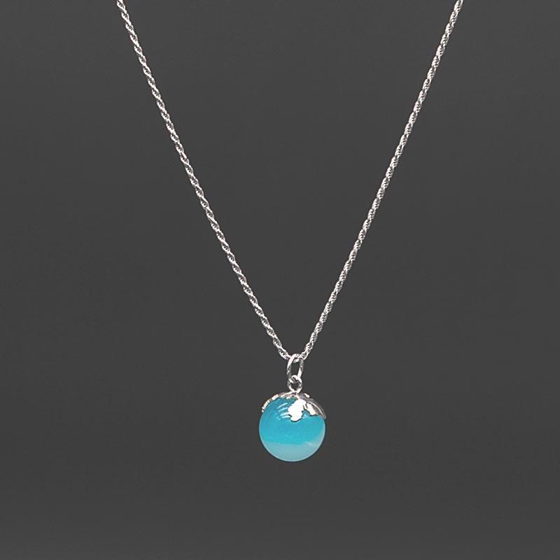 collana cordoncino blu edition argento