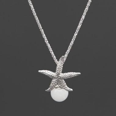 collana sfaccettata stella marina classic argento